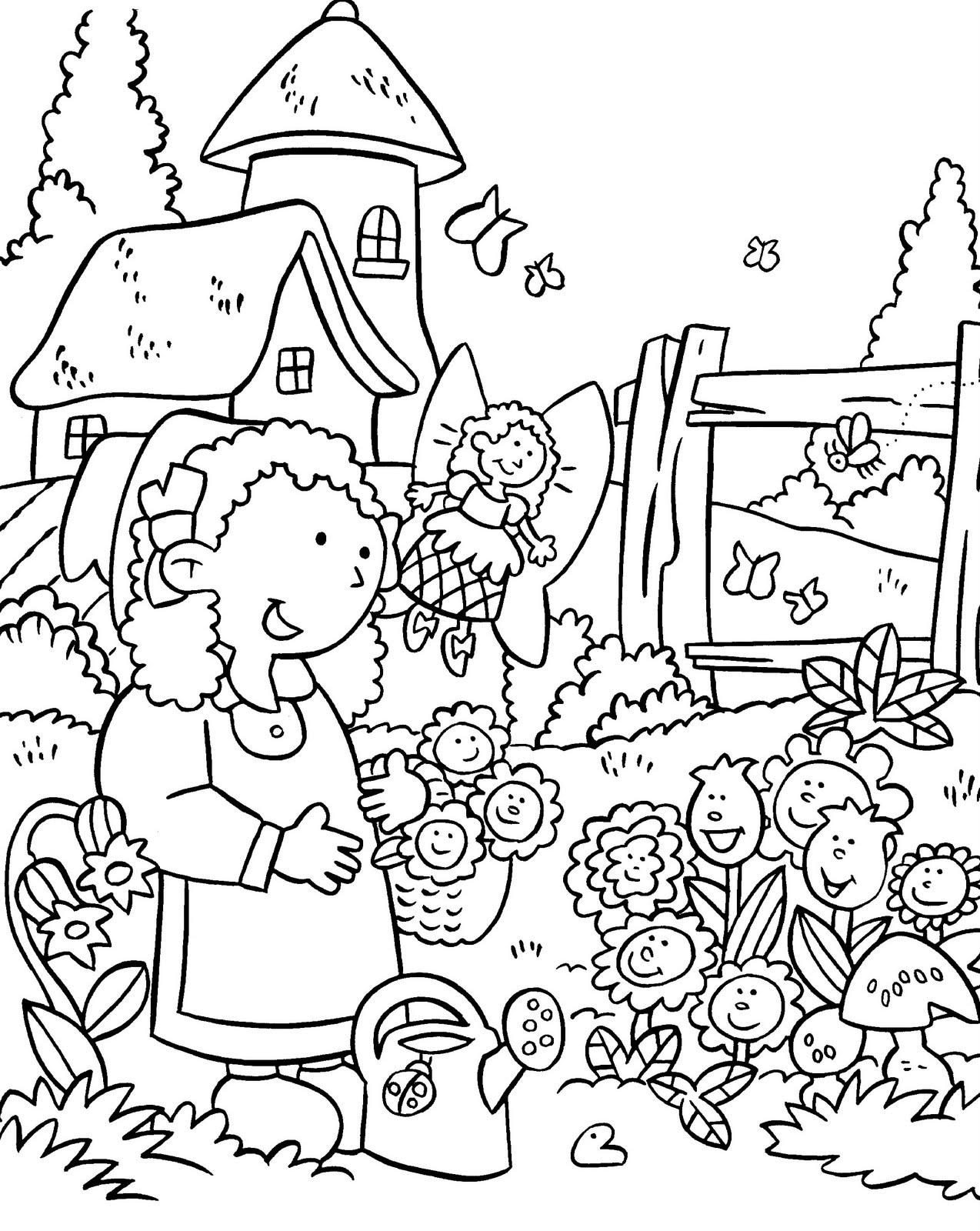 colouring pages garden my little house anna and the flower garden coloring pages colouring pages garden