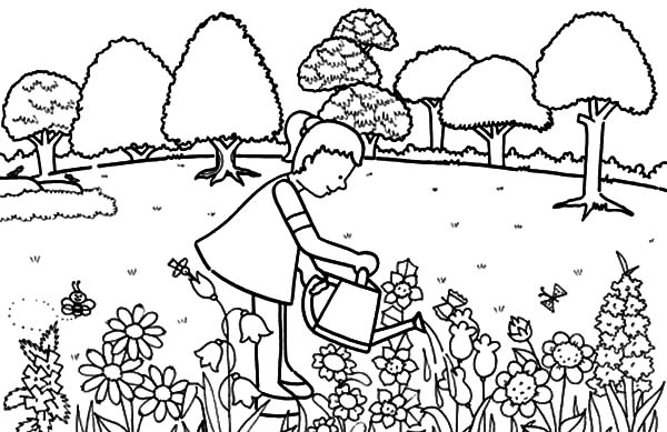 colouring pages garden pleasant view of some attractive gardens 17 gardens colouring garden pages
