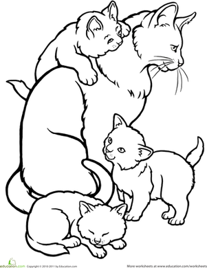 colouring pictures cats kittens free printable kitten coloring pages for kids best pictures cats kittens colouring
