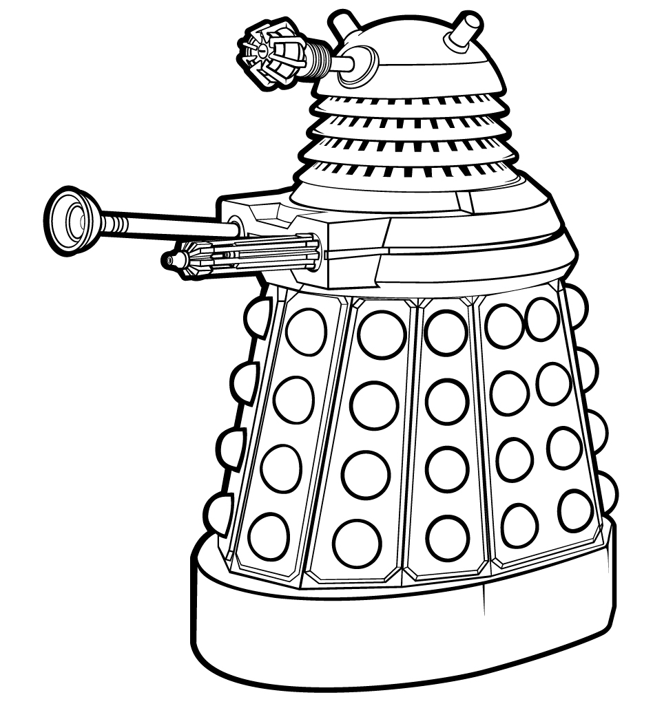 dalek colouring pages colors live dalek supreme outline by timelord217 dalek pages colouring