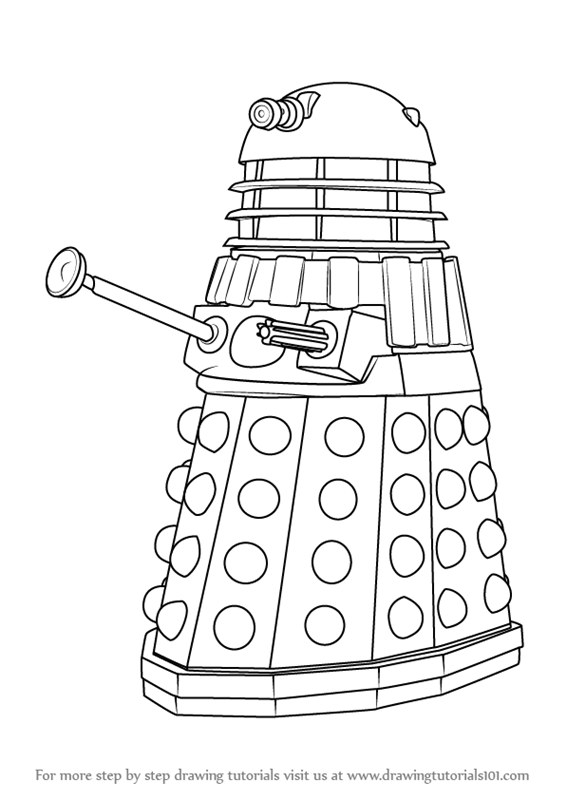 dalek colouring pages dalek coloring page free printable coloring pages pages colouring dalek