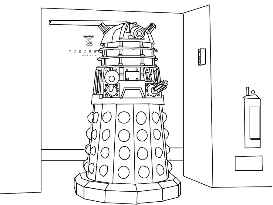 dalek colouring pages dalek drawing at getdrawingscom free for personal use colouring pages dalek