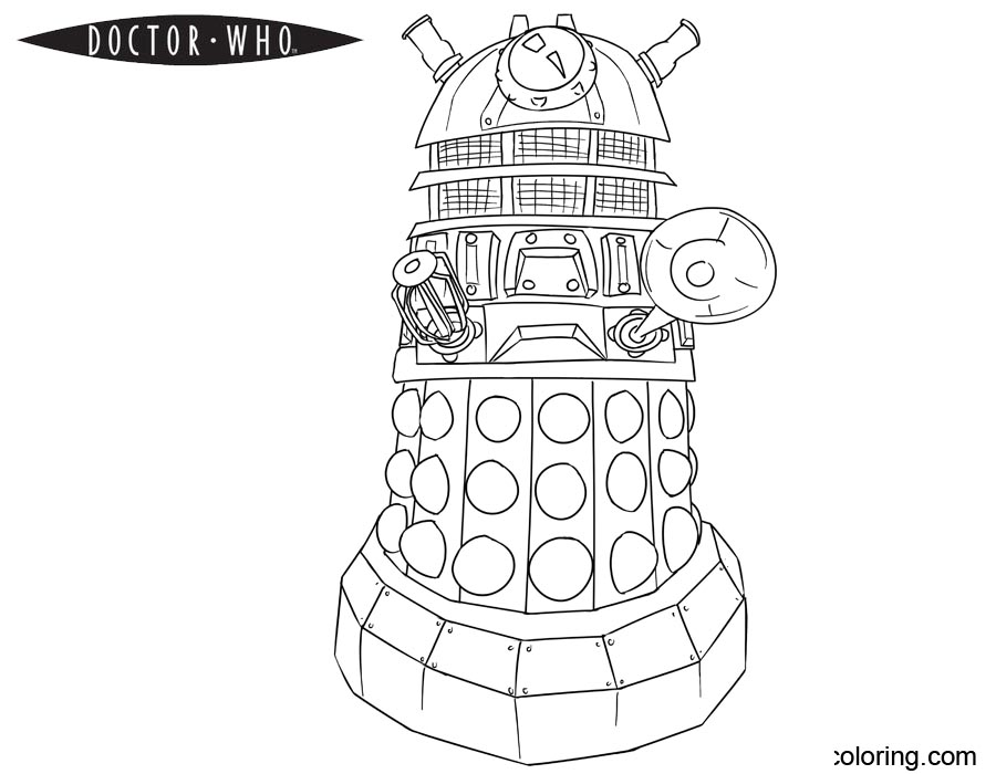 dalek colouring pages doctor who coloring pages dalek free printable coloring dalek colouring pages