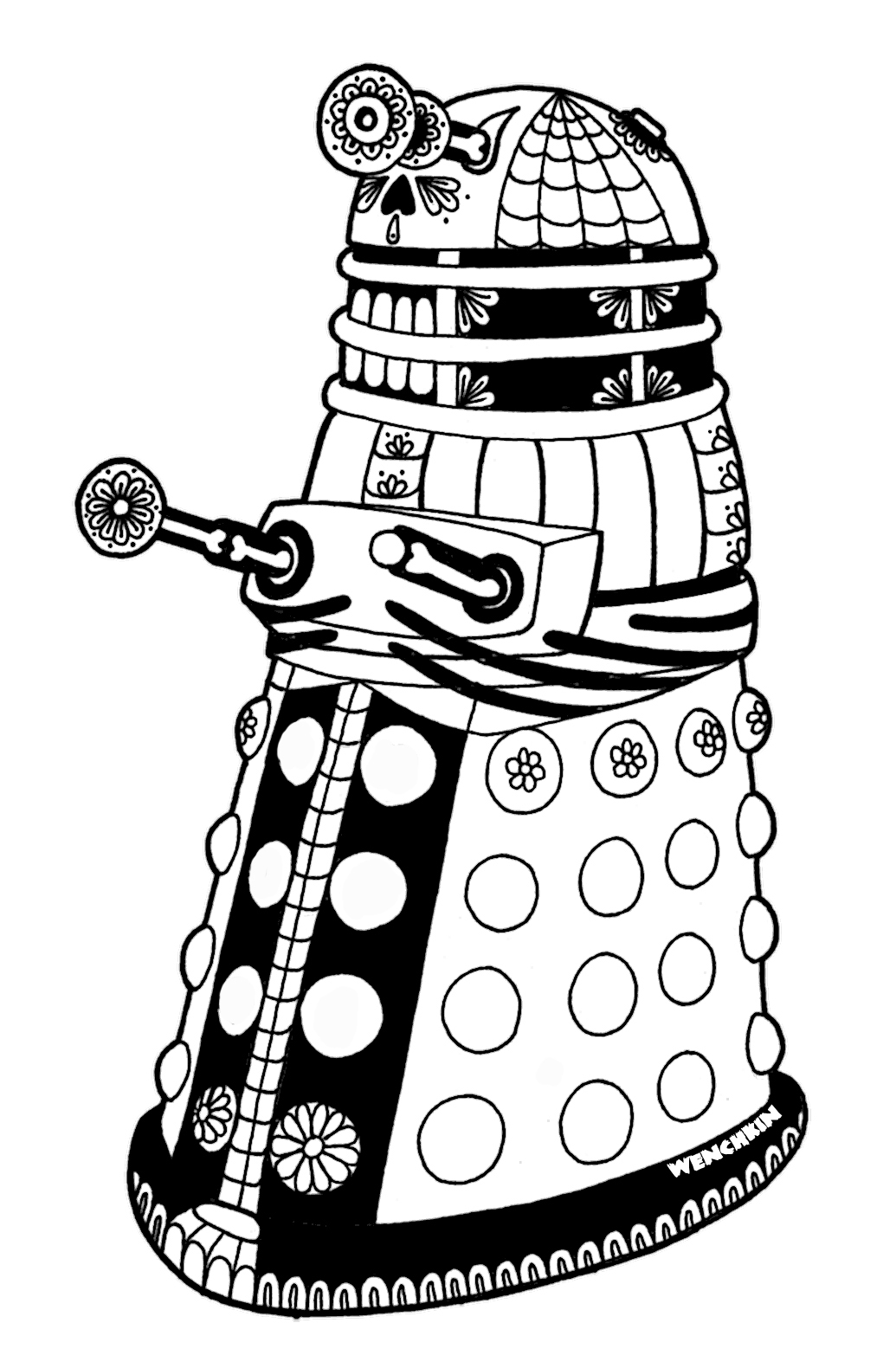 dalek colouring pages learn how to draw dalek from doctor who doctor who step colouring dalek pages