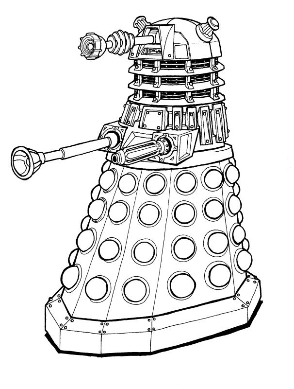 dalek colouring pages springfield punx doctor who week day 2 pages dalek colouring