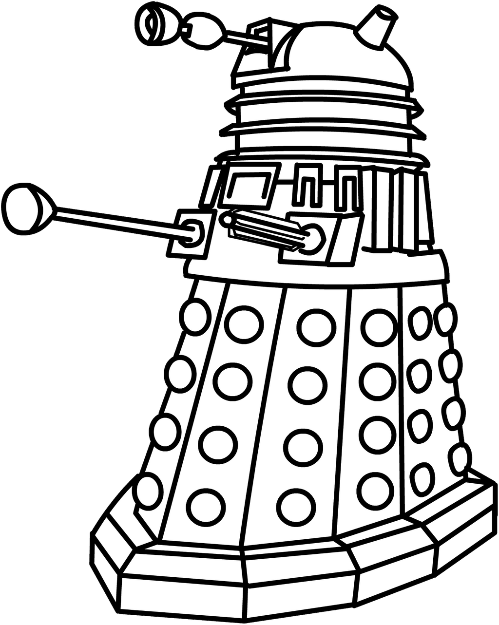 dalek colouring pages strange magic new monster the dalek dalek colouring pages
