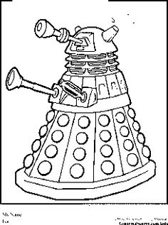 dalek colouring pages the supreme dalek bw by spgk on deviantart dalek colouring pages