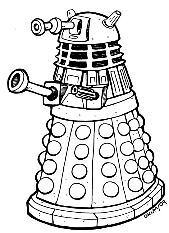 dalek colouring pages yucca flats nm wenchkin39s coloring pages dia de los dalek colouring pages