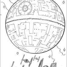 death star printable death star and the fighters coloring pages hellokidscom star death printable
