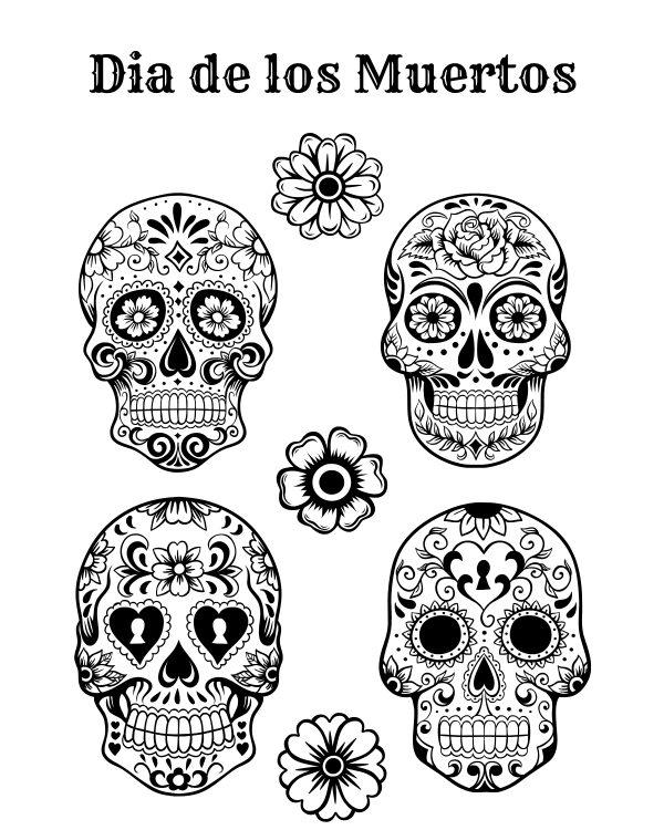 dia de los muertos printable coloring pages dia de los muertos coloring pages to download and print coloring pages los dia de printable muertos