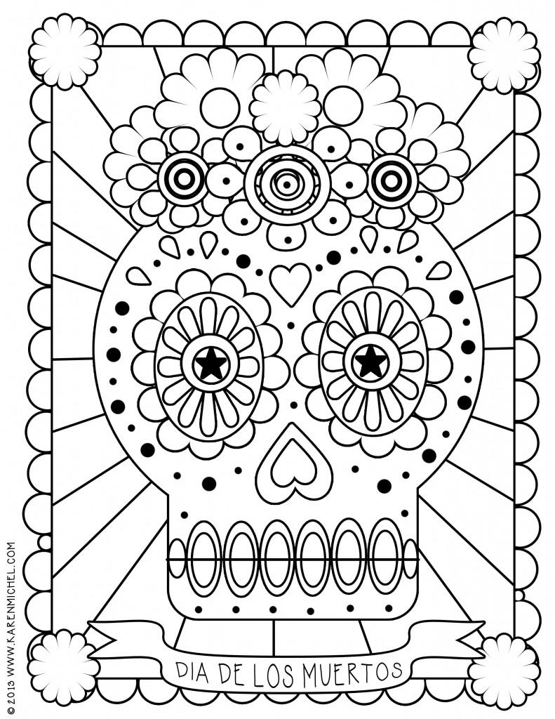 dia de los muertos printable coloring pages dia de los muertos coloring pages to download and print muertos printable los coloring dia pages de