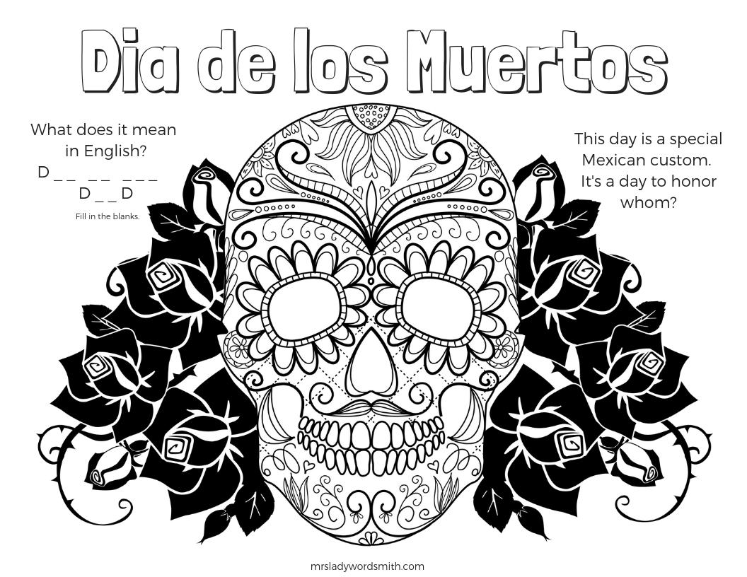 dia de los muertos printable coloring pages dia de los muertos free printable and coloring page to muertos de coloring printable pages dia los