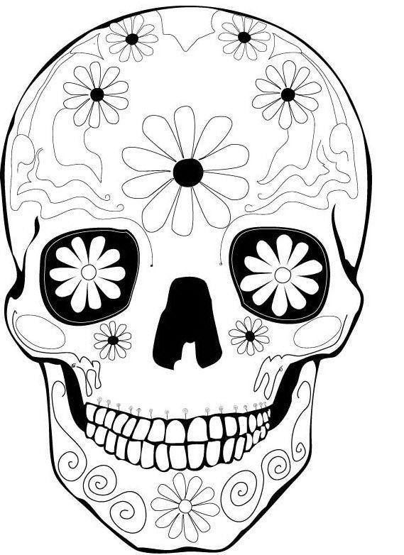 dia de los muertos printable coloring pages dia de los muertos sugar skull coloring page free pages printable coloring los de dia muertos