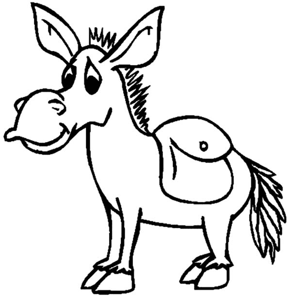 donkey coloring pages donkey line drawing at getdrawingscom free for personal coloring donkey pages