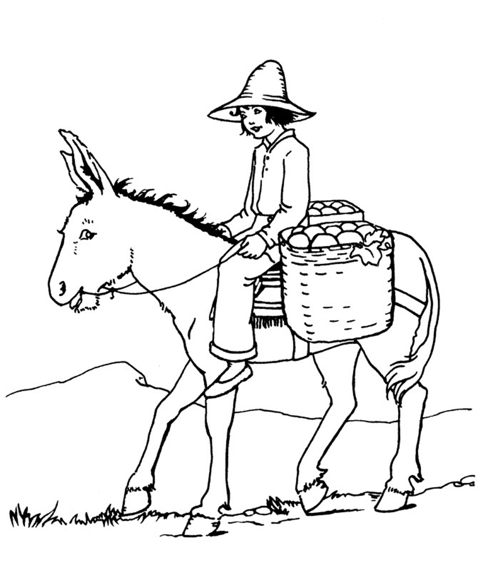donkey coloring pages free printable donkey coloring pages for kids coloring donkey pages 1 1