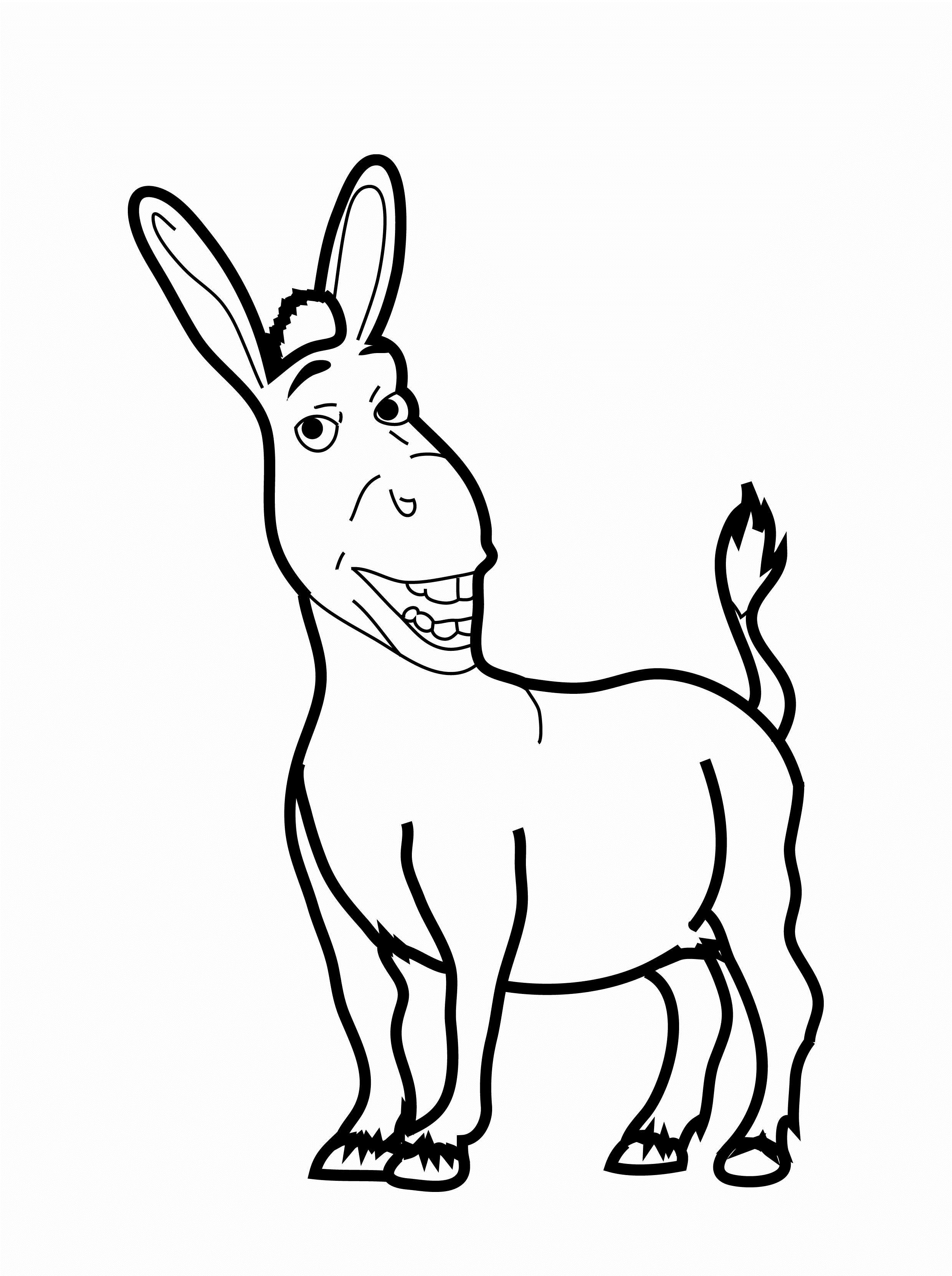 donkey coloring pages free printable donkey coloring pages for kids pages coloring donkey 1 2