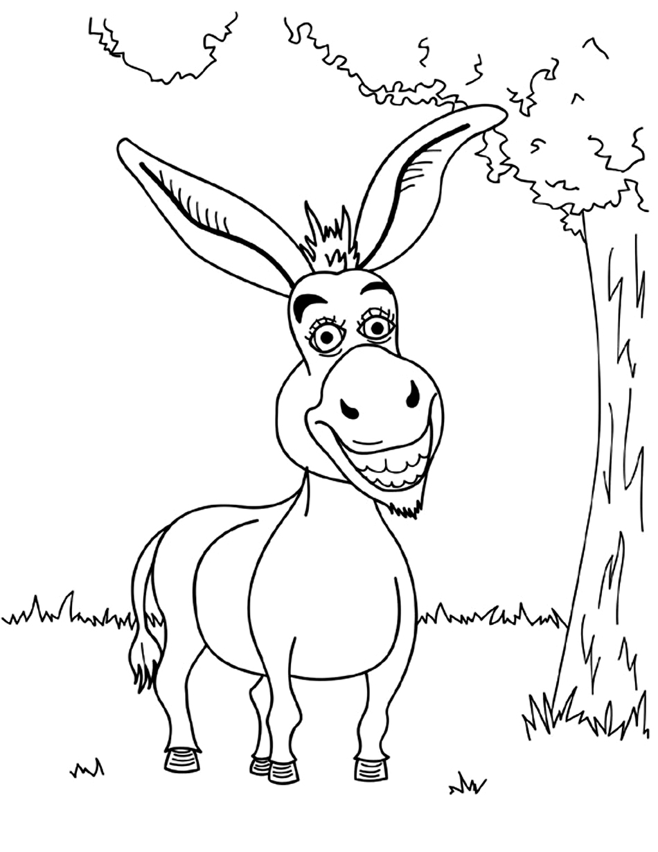 donkey coloring pages free printable donkey coloring pages for kids pages donkey coloring