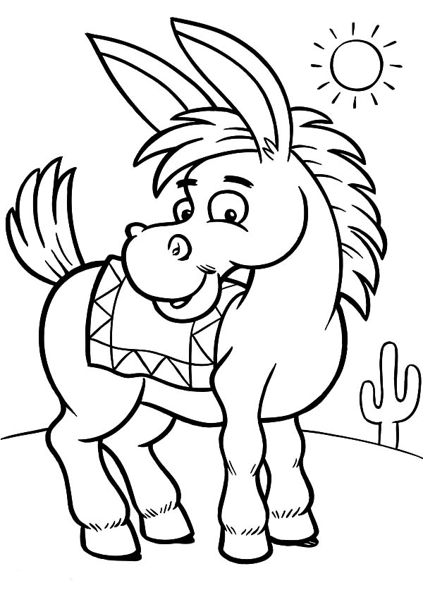 donkey coloring pages little mexican donkey coloring pages little mexican coloring donkey pages