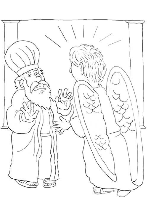 elizabeth and zechariah coloring pages coloring page zacharias with angel sunday school teacher zechariah and pages coloring elizabeth