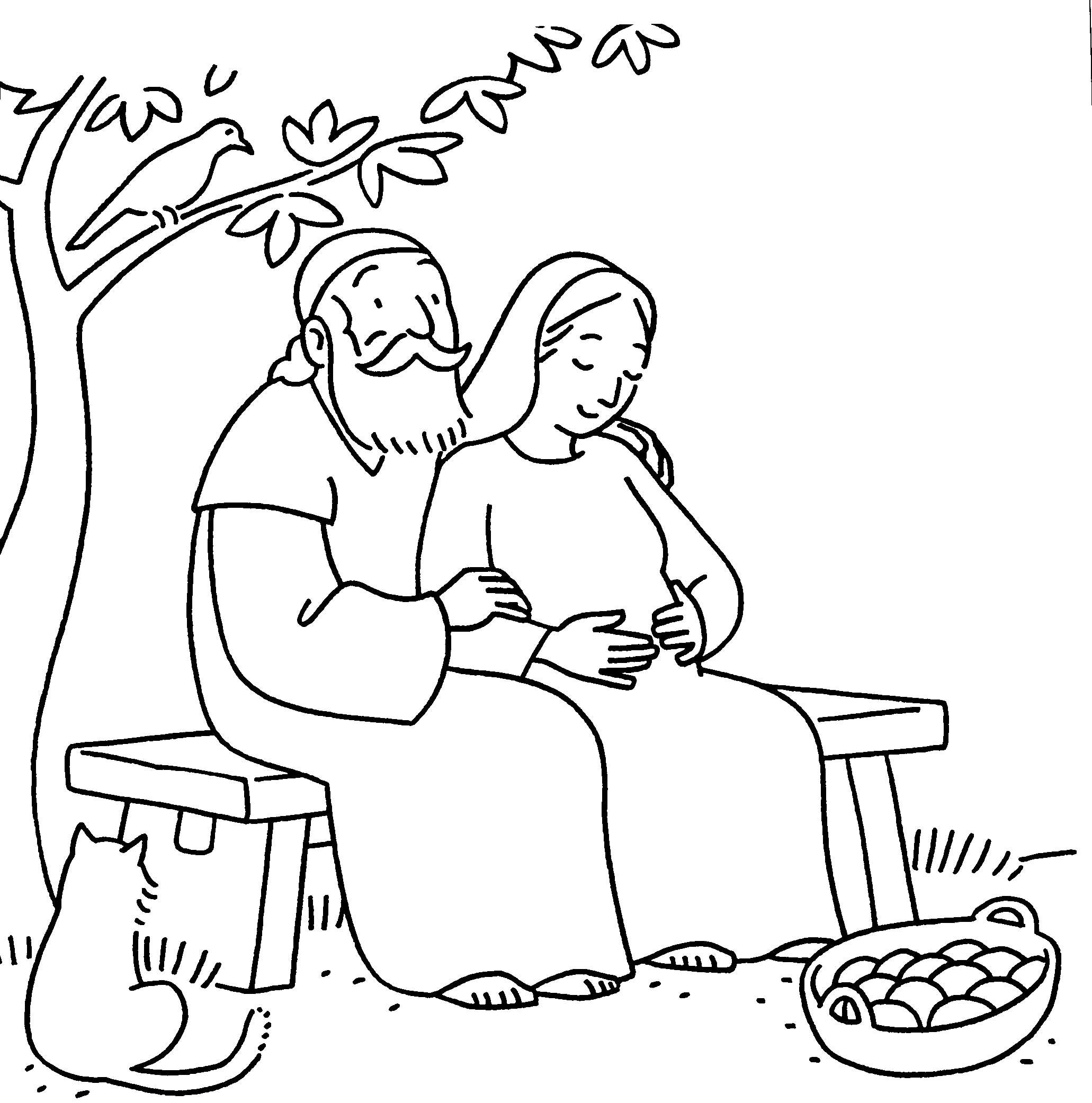 elizabeth and zechariah coloring pages free christian coloring pages for kids and young children coloring zechariah elizabeth pages and