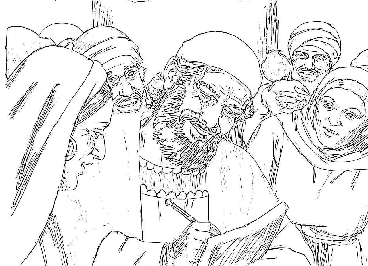 elizabeth and zechariah coloring pages the birth of john the baptist foretold coloring pages elizabeth and zechariah pages coloring