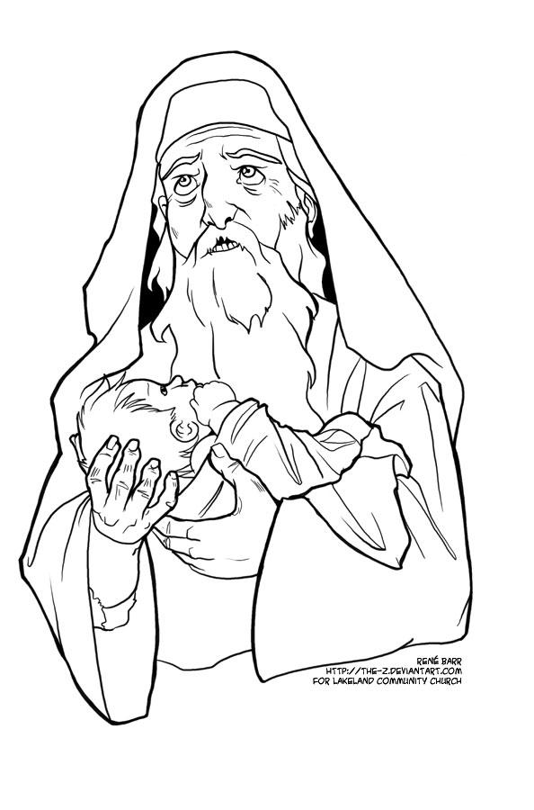 elizabeth and zechariah coloring pages zacharias en elizabeth kleurplaat ausmalbild jesus wird coloring pages elizabeth and zechariah