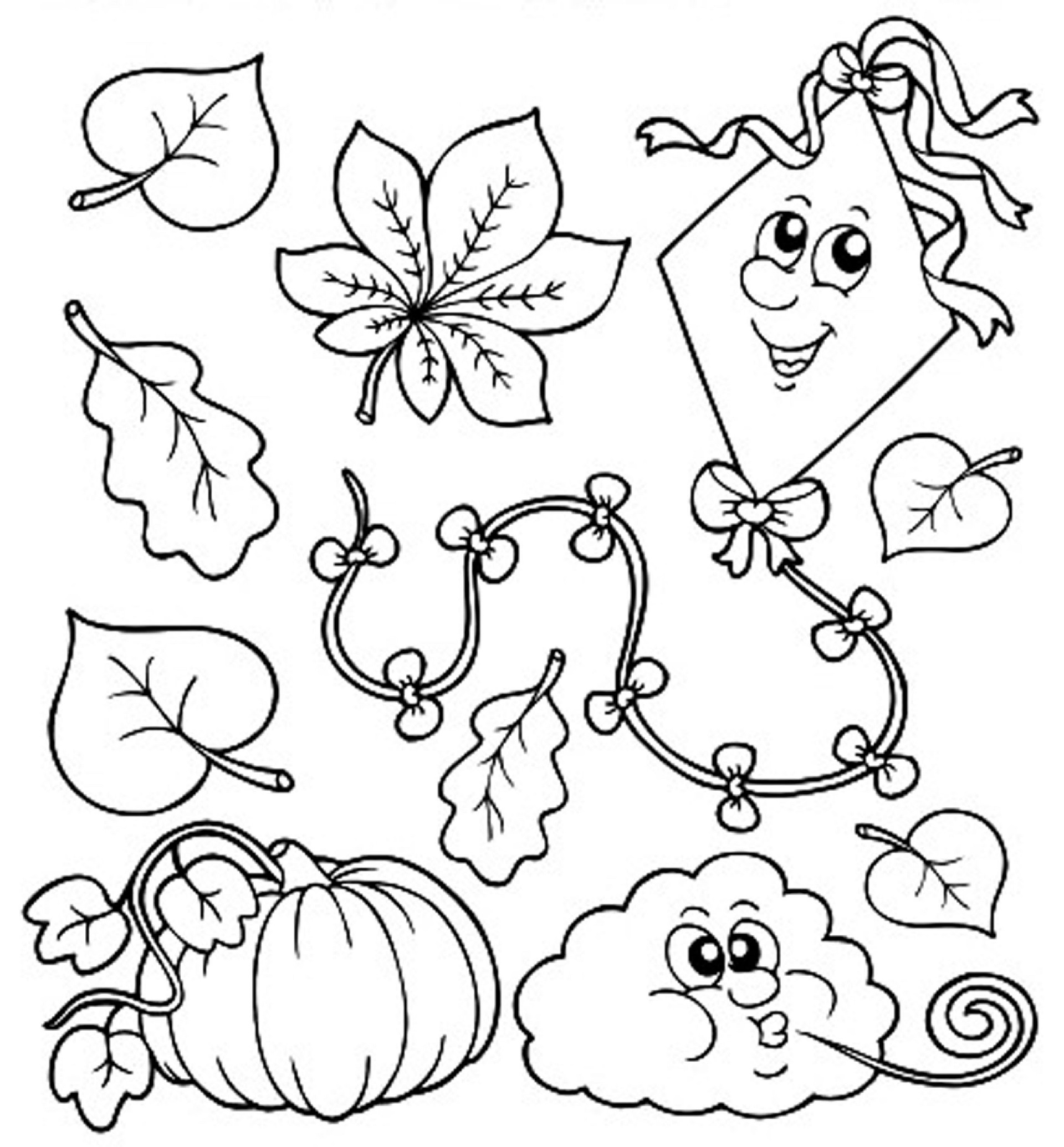 fall coloring pages for preschoolers fall coloring pages for kindergarten learning printable for pages fall preschoolers coloring