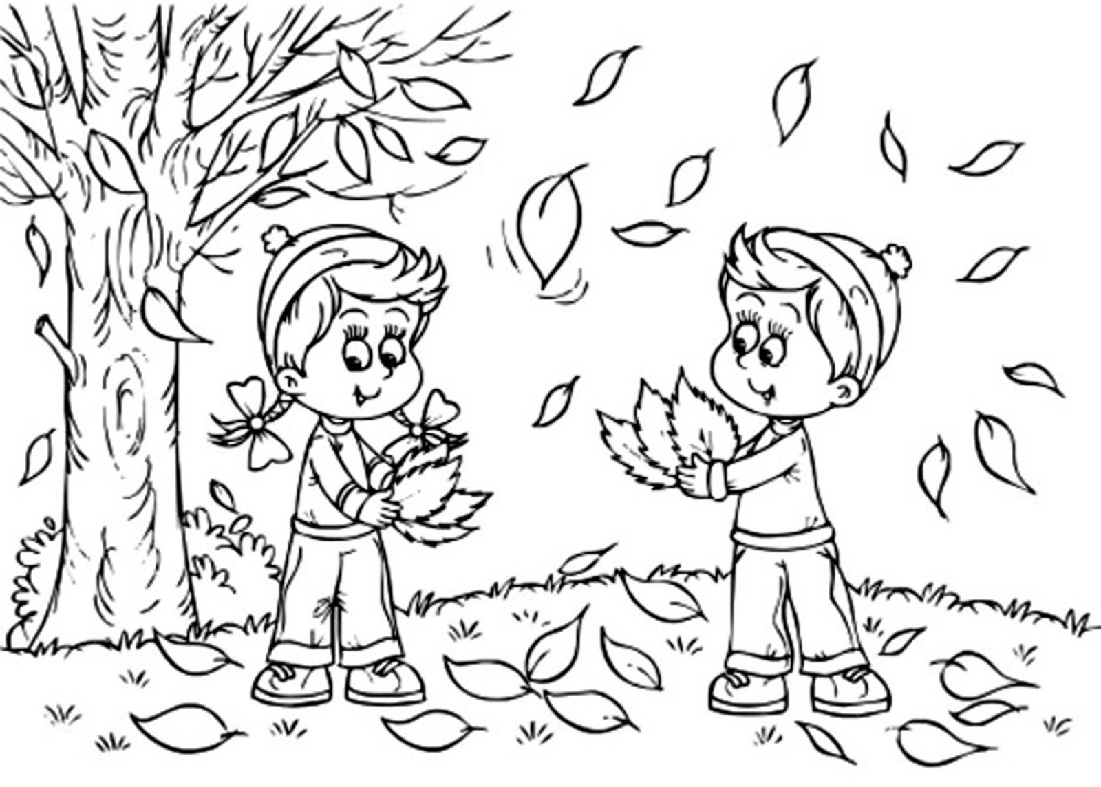 fall coloring pages for preschoolers fall leaves coloring pages 2016 for pages fall preschoolers coloring