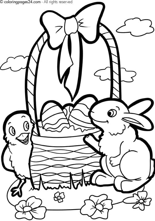 free printable easter coloring pages cute easter bunny and eggs coloring page free printable coloring pages printable free coloring easter pages