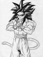 goku super saiyan 4 a self drawn picture of super saiyan 4 goku drawn by jm goku 4 saiyan super