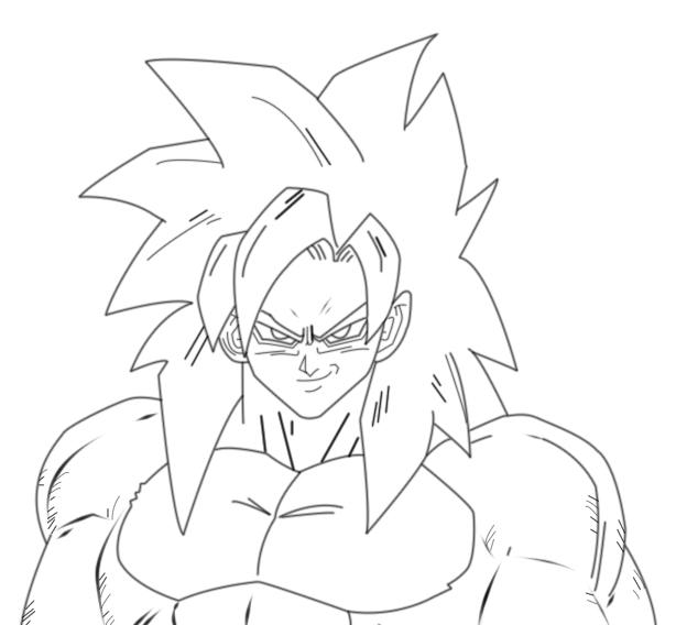 goku super saiyan 4 goku super saiyan 4 coloring page super 4 saiyan goku