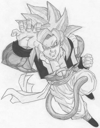 goku super saiyan 4 goku super saiyan 4 drawing at getdrawingscom free for goku 4 super saiyan