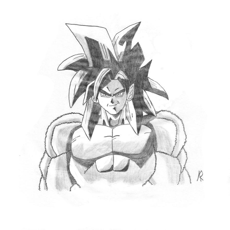 goku super saiyan 4 super saiyan 4 fusion lineart by jamalc157 on deviantart 4 saiyan super goku
