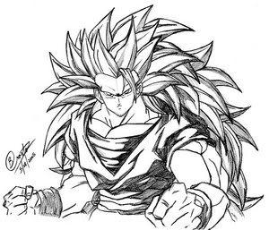 goku super saiyan 4 when goku turn into a super sayan 4 free coloring pages saiyan 4 super goku