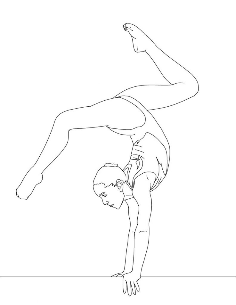 gymnastics coloring pages to print free printable gymnastics coloring pages for kids to coloring pages gymnastics print