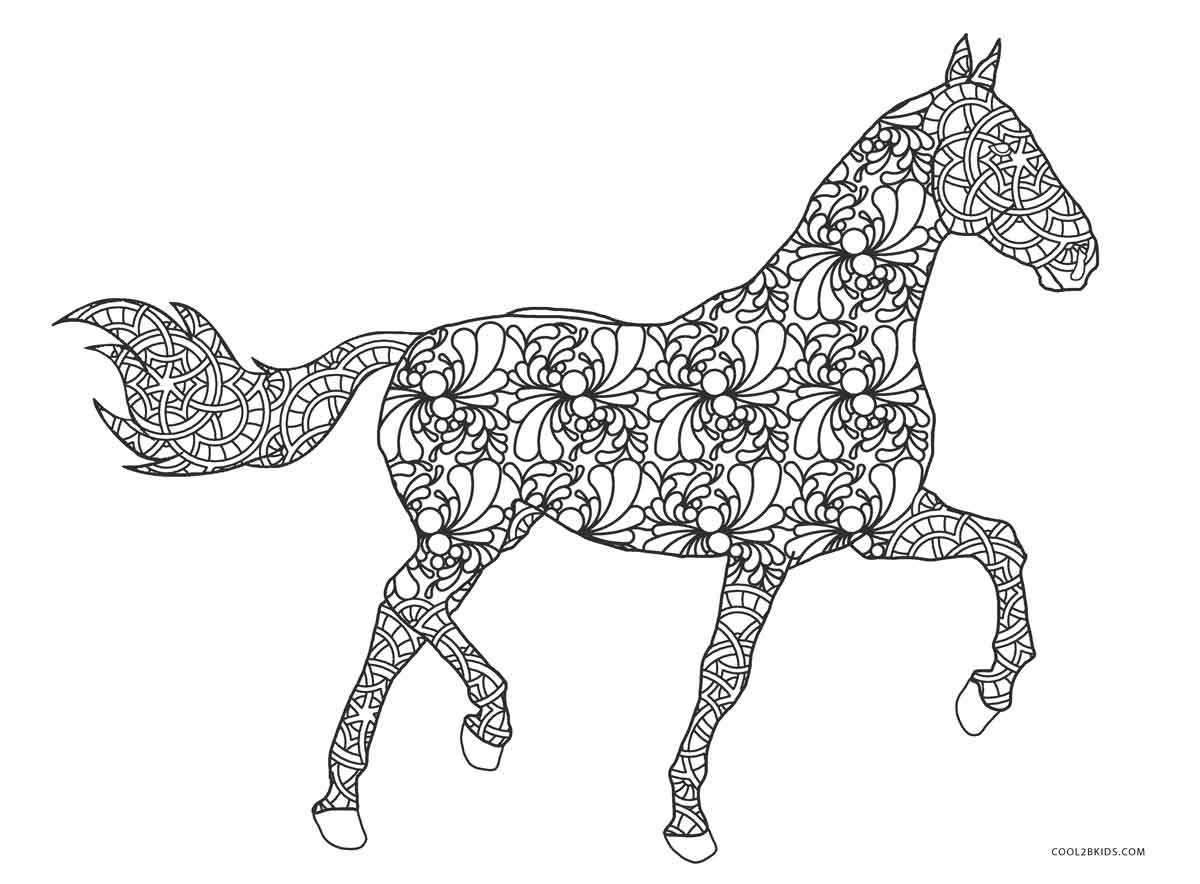 horse pages 5 beautiful decorated horse horse coloring pages big bang pages horse