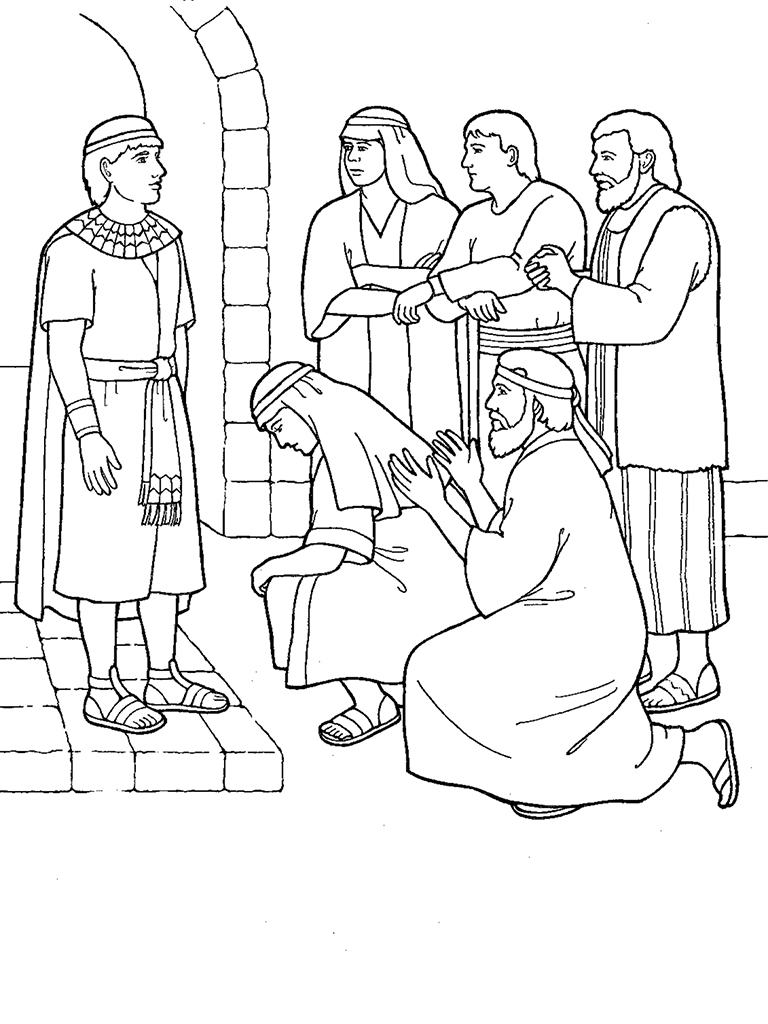 joseph in prison coloring pages john the baptist in prison coloring page free printable coloring pages pages prison in joseph coloring