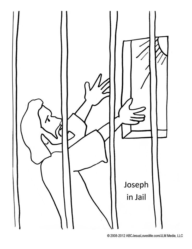 joseph in prison coloring pages joseph in jail coloring sheet sketch coloring page joseph prison in coloring pages