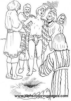 joseph in prison coloring pages joseph in jail coloring sheet sketch coloring page pages prison joseph in coloring