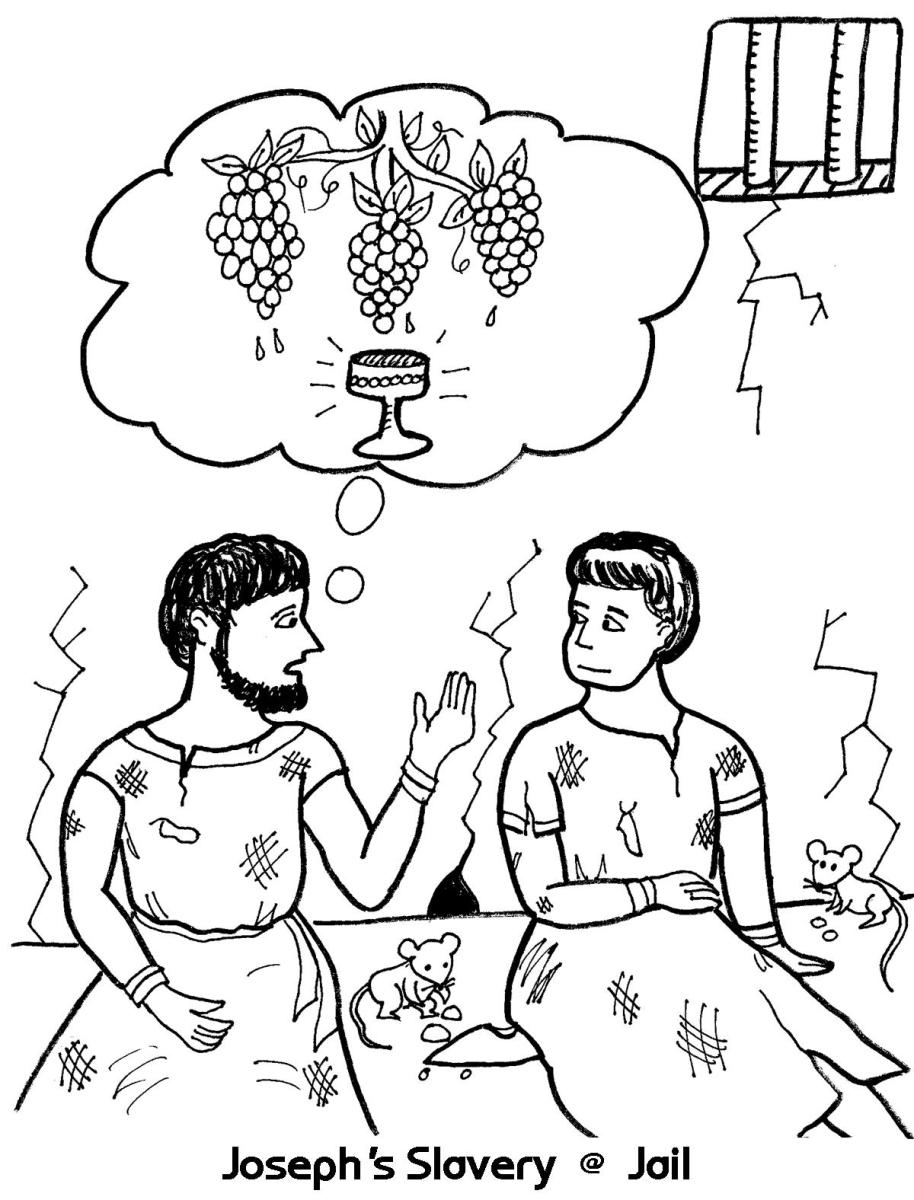 joseph in prison coloring pages josephs slavery in jail coloring sheet wesleyan kids pages joseph in prison coloring