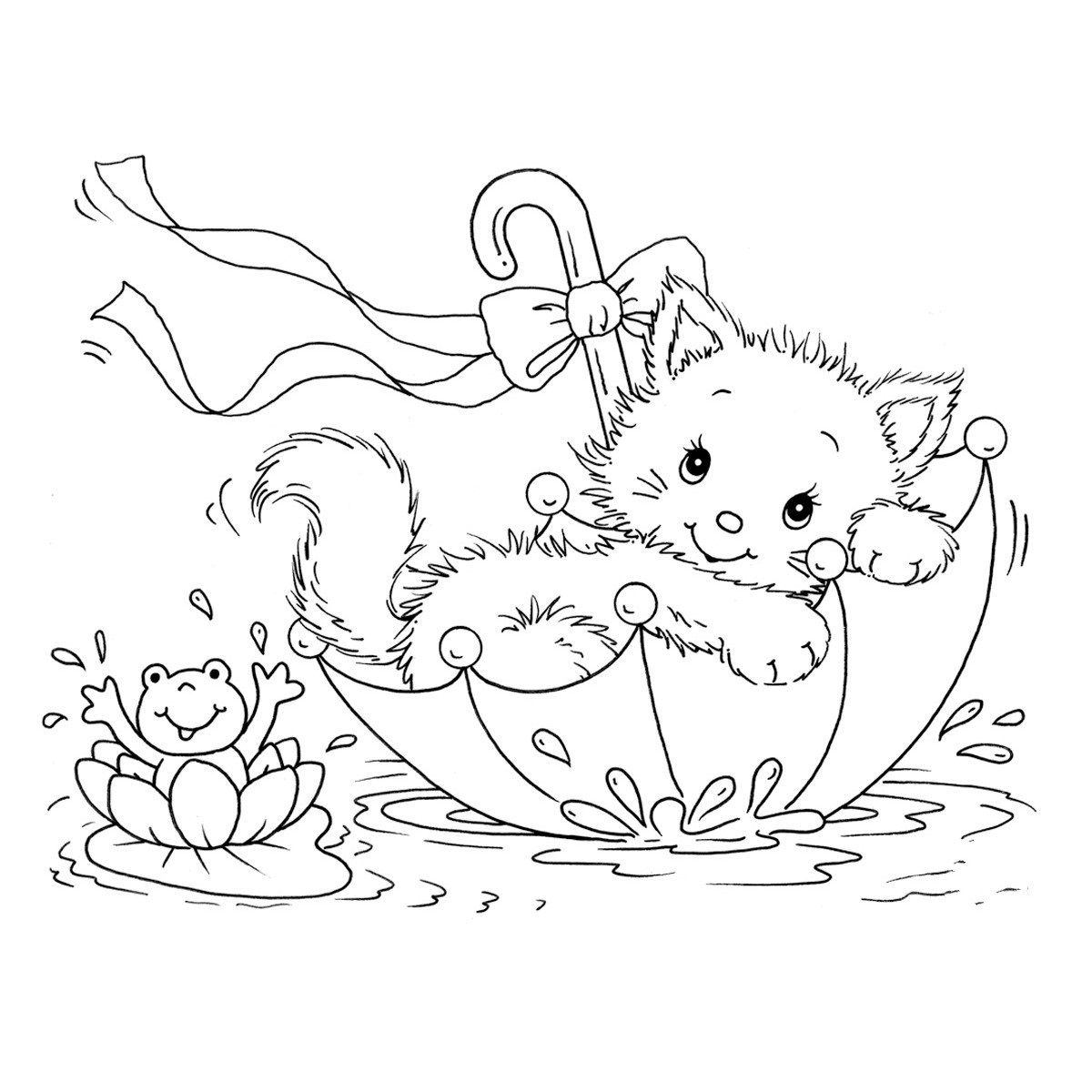 kitten coloring free printable cat coloring pages for kids kitten coloring