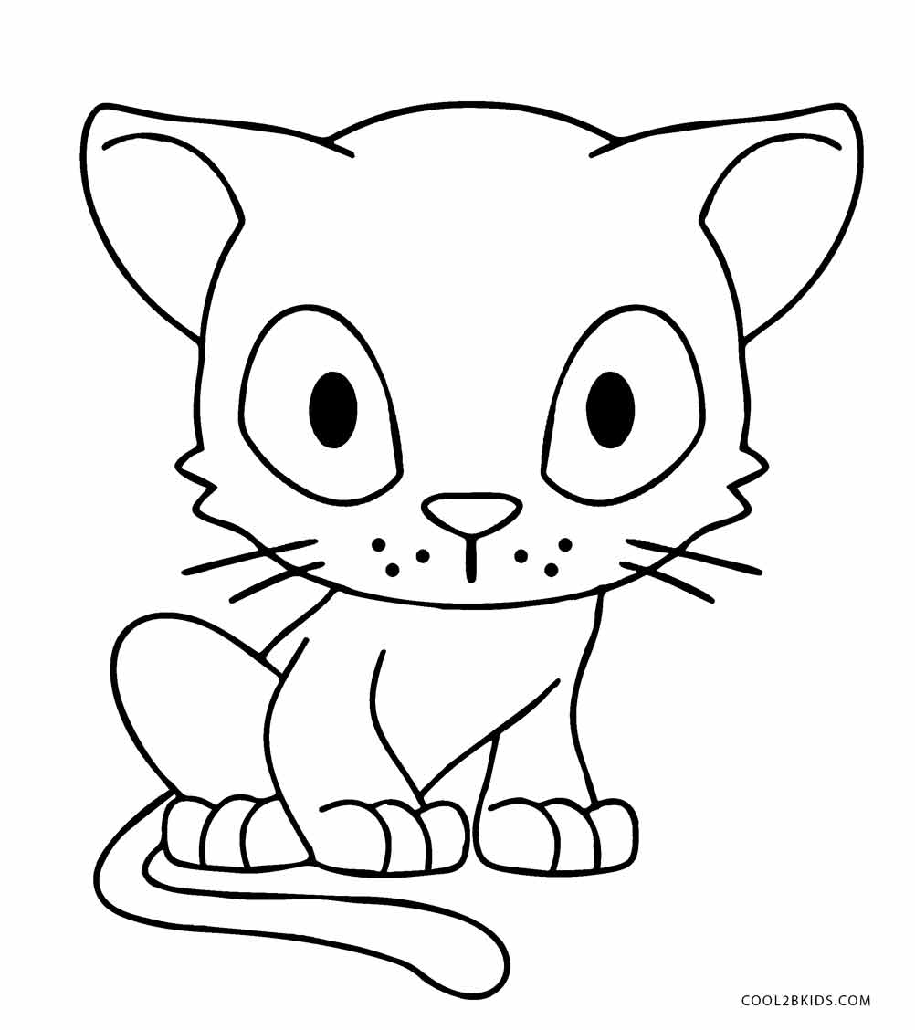 kitten coloring free printable cat coloring pages for kids kitten coloring 1 2