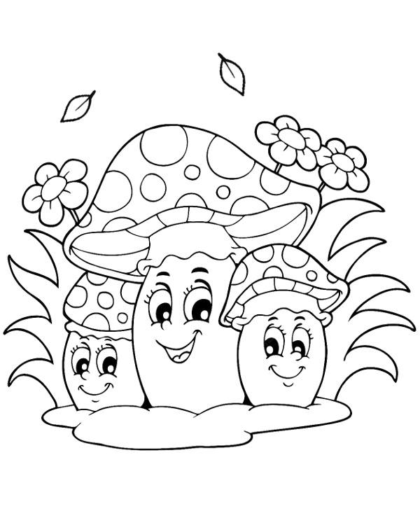 kolorowanki jesie grzyby jesienne muchomory kolorowanka jesie kolorowanki
