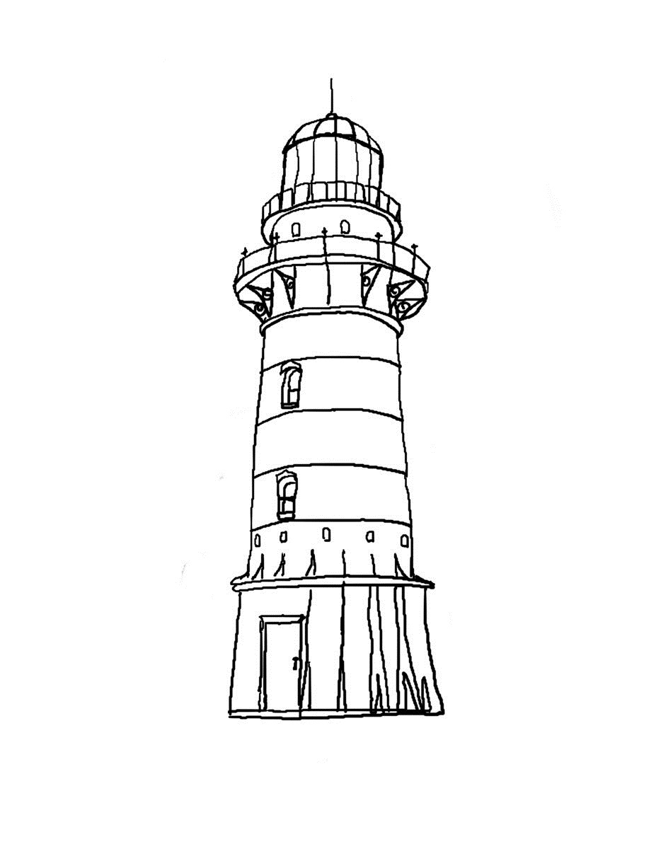 lighthouse coloring sheet cape hatteras lighthouse drawing at getdrawings free lighthouse sheet coloring