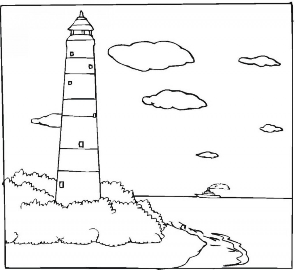 lighthouse coloring sheet coastal lighthouse coloring pages for adults sketch coloring lighthouse sheet