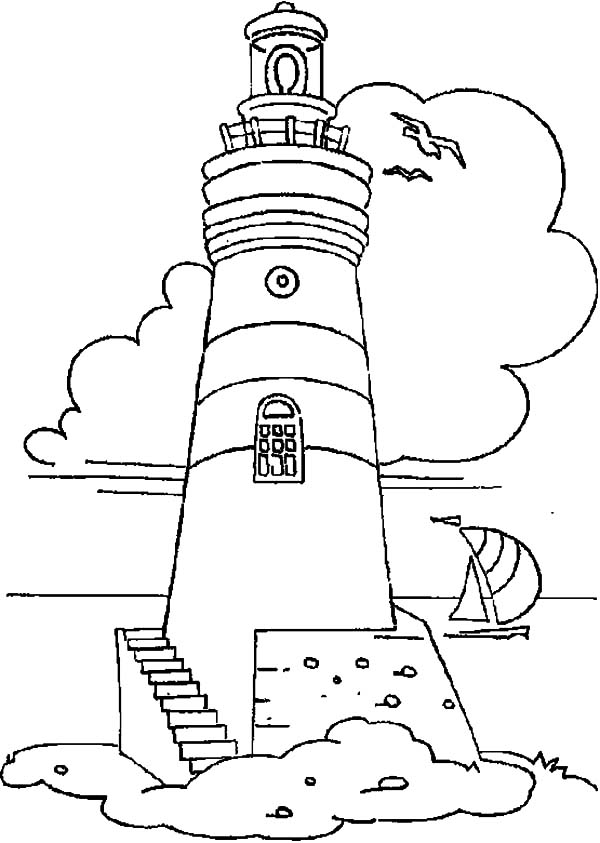 lighthouse coloring sheet lighthouse coloring pages getcoloringpagescom coloring lighthouse sheet