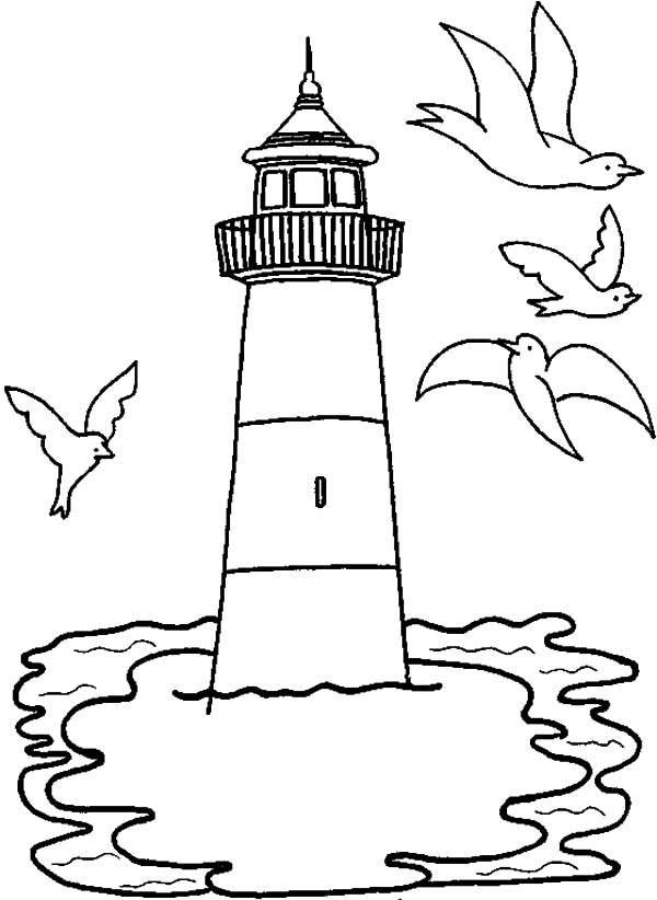 lighthouse coloring sheet lighthouse drawing at getdrawings free download sheet lighthouse coloring