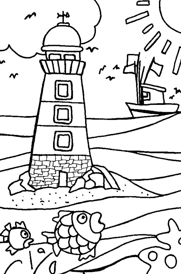 lighthouse coloring sheet lighthouse drawing at getdrawings free download sheet lighthouse coloring 1 1