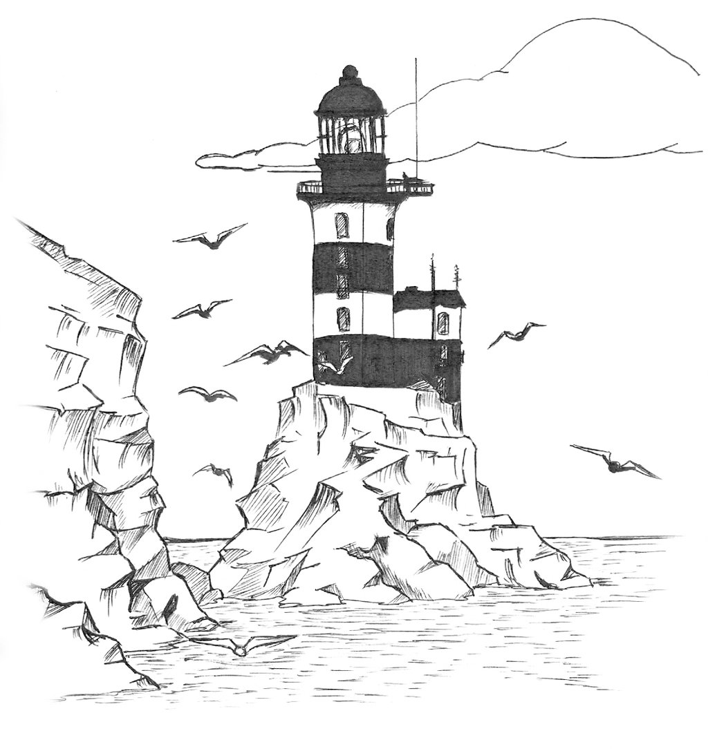 lighthouse coloring sheet lighthouse drawings clipartsco coloring lighthouse sheet