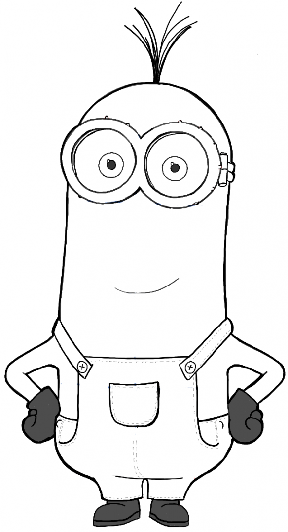 minion kevin coloring pages how to draw kevin from the minions movie 2015 in easy coloring pages minion kevin